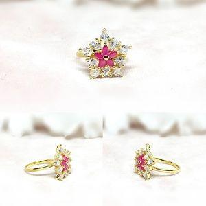 Bridal Jewelry, Wedding Jewelry, CZ & Brass Ring